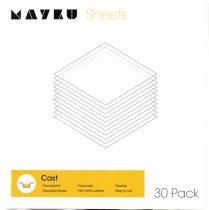 Mayku formázó (cast) lemezcsomag (30 db, 0.5 mm vastag, áttetsző, foodsafe PETG)