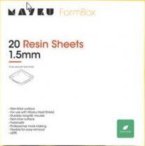 Mayku műgyanta (resin) formázó lemezcsomag (20 db, 1.5 mm vastag, opálos polietilén)